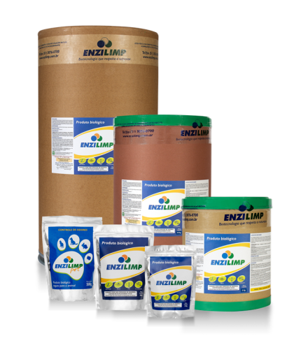 Embalagens produtos Enzilimp