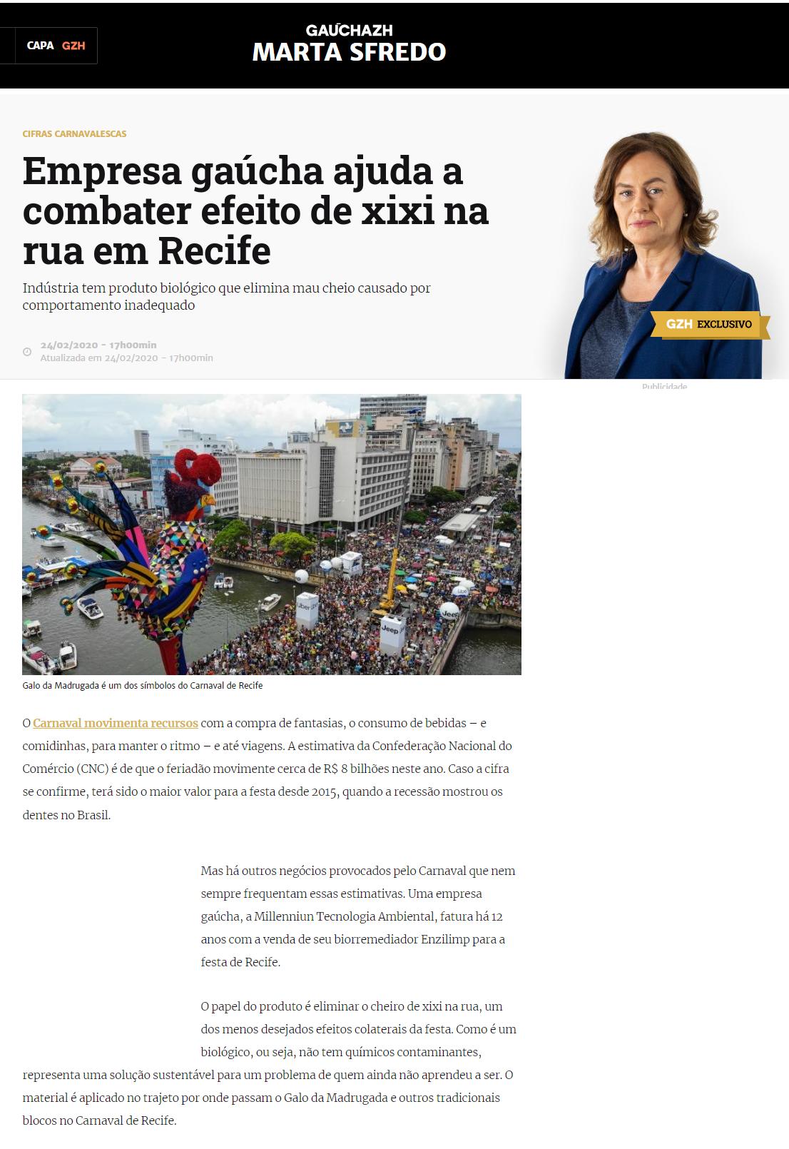 Empresa gaúcha ajuda a combater efeito de xixi na rua em Recife, Enzilimp