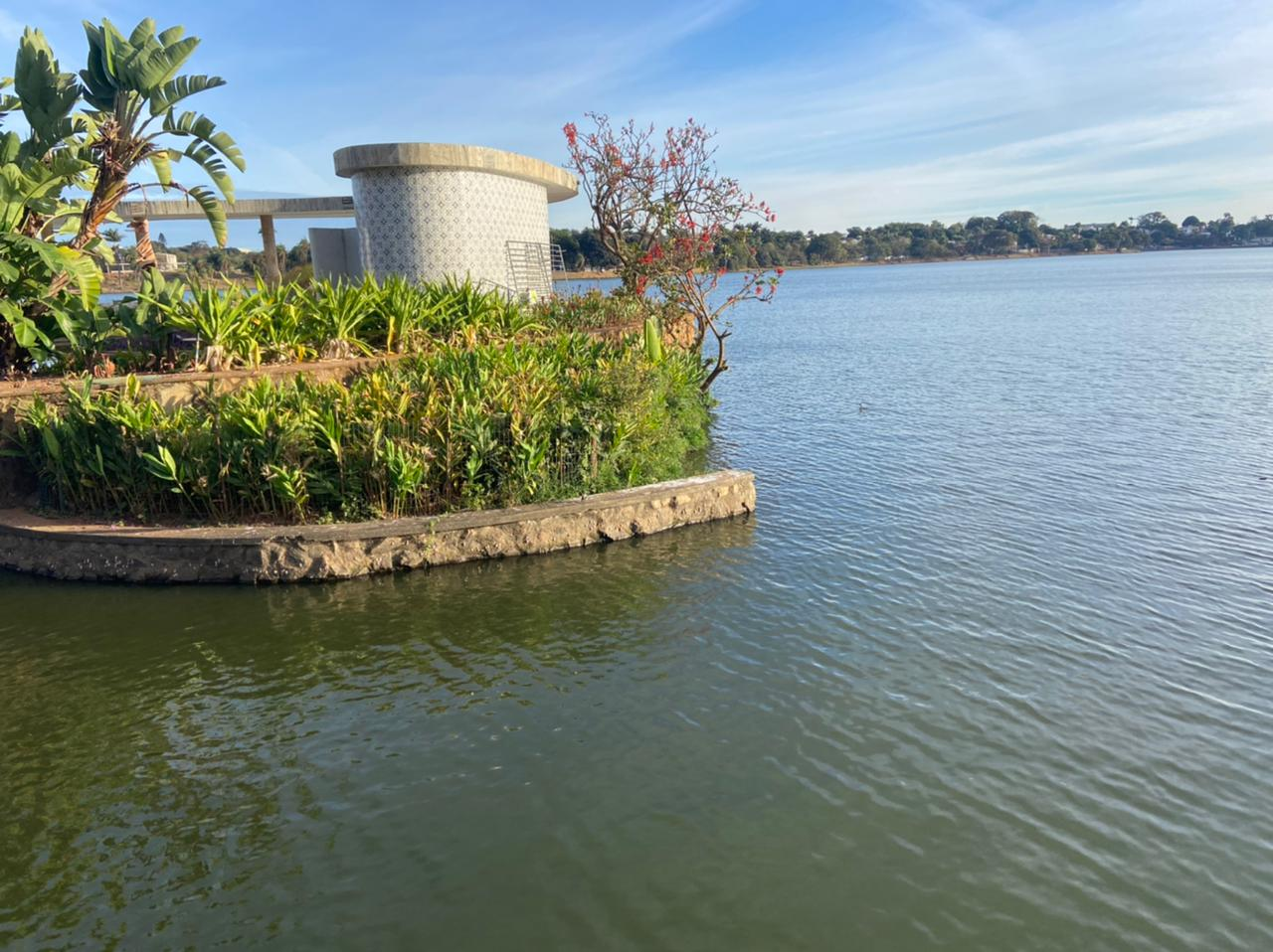 Lagoa da Pampulha segue linda, Enzilimp